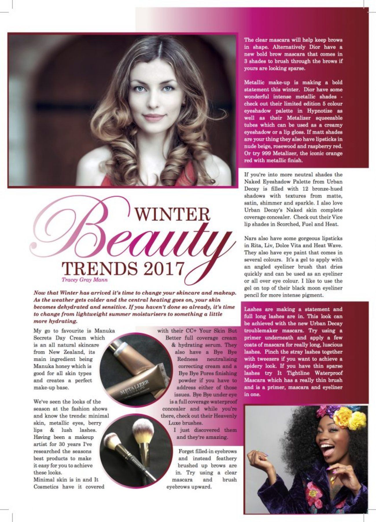 Look Wonderful this Winter – expert makeup tips by Tracey Gray Mann