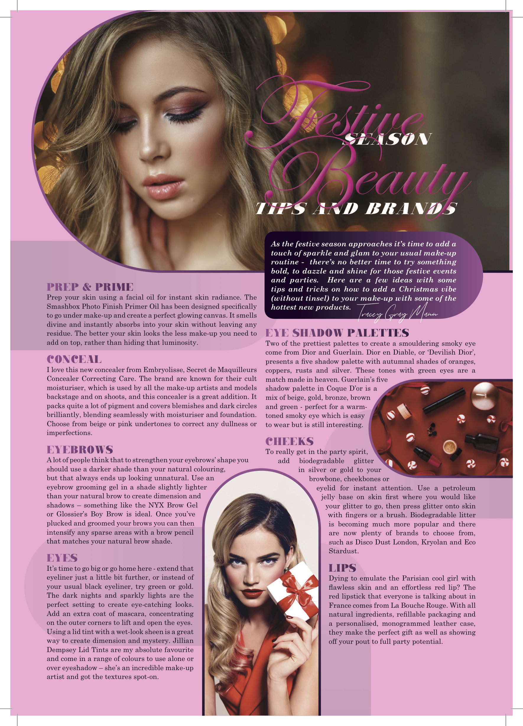 Festive Season Beauty Tips And Brands 2018 By Tracey Gray Mann Tracey Gray Mann